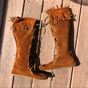 Knee-High Minnetonka Fringe Boots